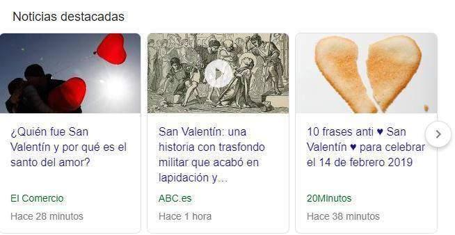 San Valentín noticias