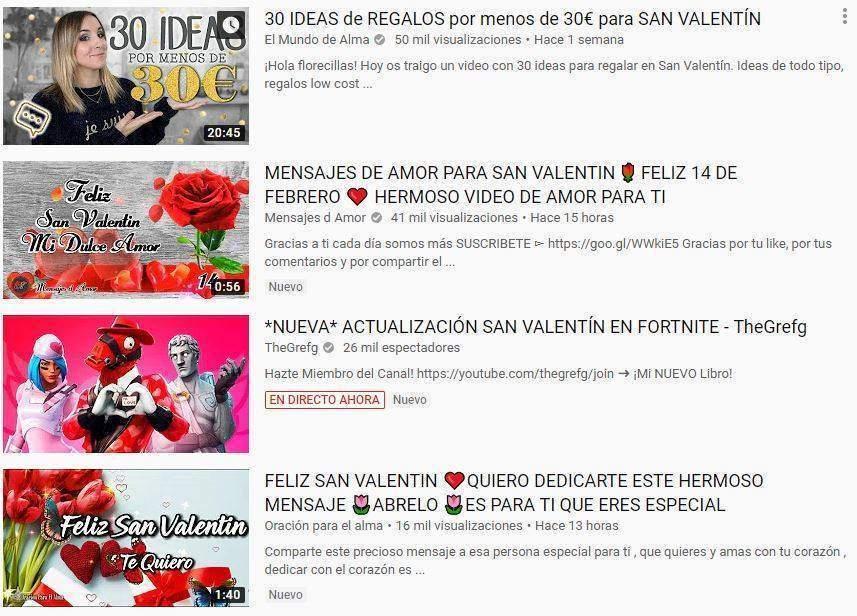 youtube san valentin